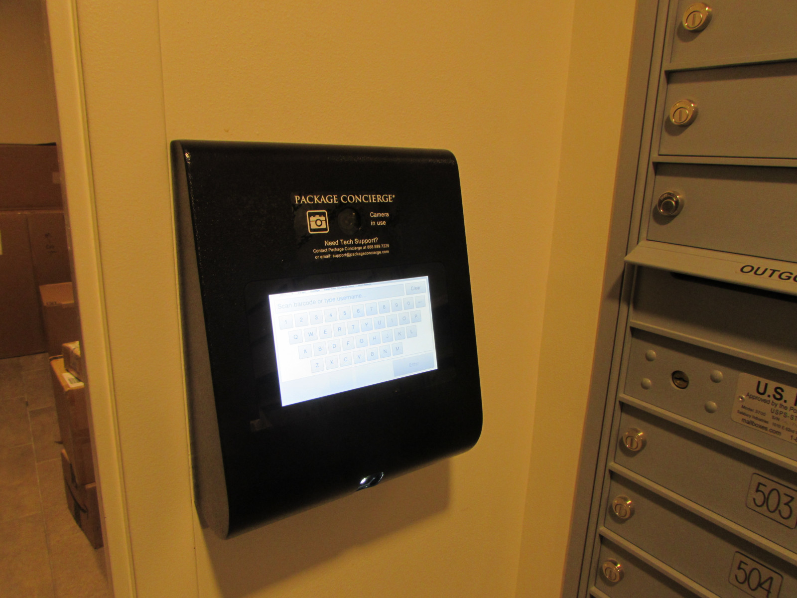 Access Control Kiosk Panel for Package Room